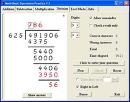 Math Basic Operations Practice screenshot